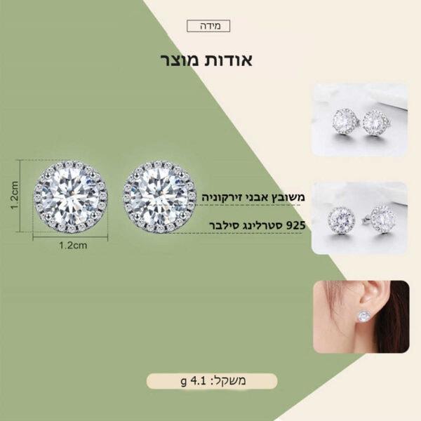 אודות מוצר עגילי יהלום