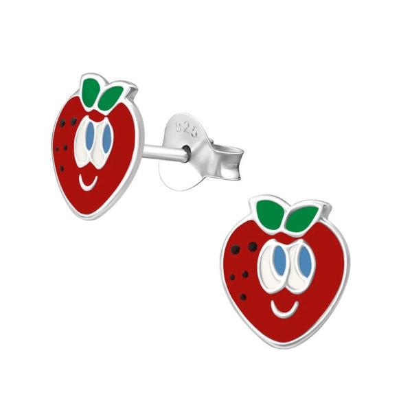עגילי תותים צמודים מכסף 925